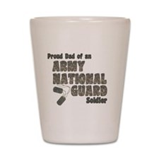 National Guard Dad (tags) Shot Glass