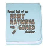 National Guard Dad (tags) baby blanket