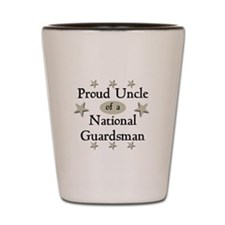 Proud Uncle National Guard Shot Glass