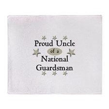 Proud Uncle National Guard Throw Blanket