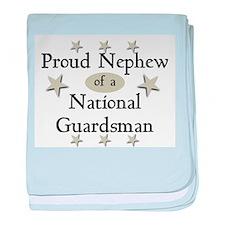 Proud Nephew National Guard baby blanket