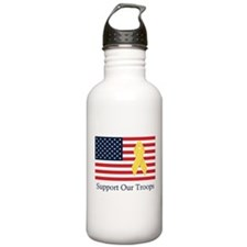 Support Our Troops Water Bottle