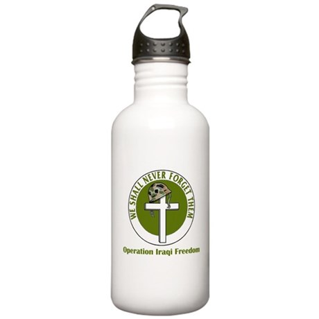 Never Forget - Iraqi Freedom Stainless Water Bottl
