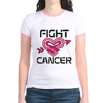 Fight Cancer Jr. Ringer T-Shirt