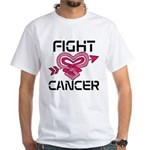 Fight Cancer White T-Shirt