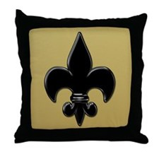 Saint Fleur De Lis Throw Pillow