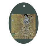 Klimt's Adele Bloch-Bauer Art Ornament (Oval)