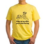 Wake Me Up Yellow T-Shirt
