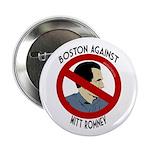 Boston Against Mitt Romney button
