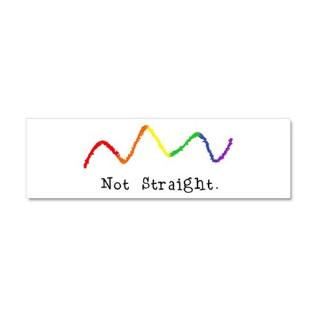 Riyah-Li Designs Not Straight Car Magnet 10 x 3