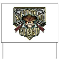 US Army National Guard Shield Yard Sign