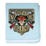 US Army National Guard Shield baby blanket