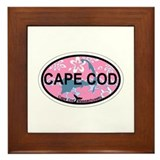 Cape Cod MA - Oval Design Framed Tile