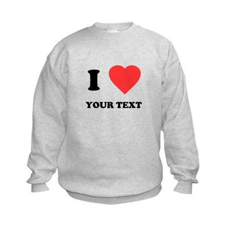 Custom I Heart Kids Sweatshirt
