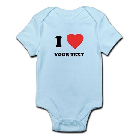 Custom I Heart Infant Bodysuit