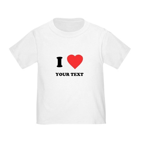 Custom I Heart Toddler T-Shirt