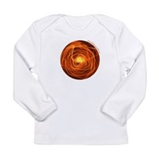 Orange Fire Ball Long Sleeve Infant T-Shirt