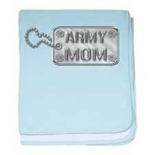 Army Mom Silver Dog Tag 3D baby blanket
