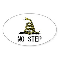 No Step Oval Decal