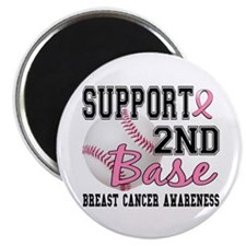 "Second 2nd Base Breast Cancer 2.25"" Magnet (10 pac"