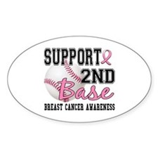 Second 2nd Base Breast Cancer Decal