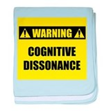 WARNING: Cognitive Dissonance baby blanket