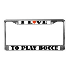 Bocce Lover License Plate Frame