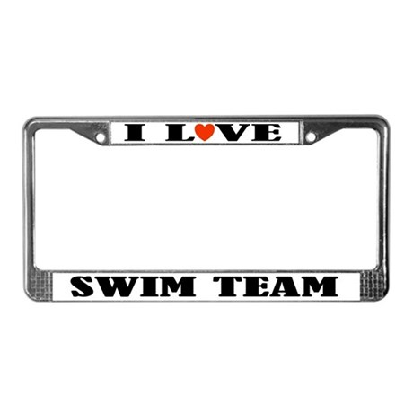 Swim Team License Plate Frame