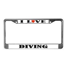 I Love Diving License Plate Frame