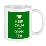 Keep Calm & Drink Tea (Green) Coffee Mug