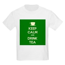 Keep Calm & Drink Tea (Green) T-Shirt