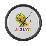 Jazlyn the Lion Large Wall Clock