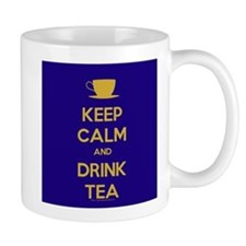 Keep Calm & Drink Tea (Dark Blue) Mug