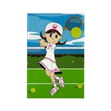 Girls tennis Rectangular Magnet (10 pack)