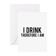 I Drink Therefore Greeting Cards (Pk of 10)