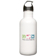 Peace, Love, Dalmatians Stainless Water Bottle 1.0