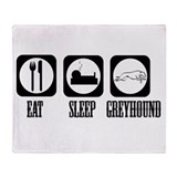 Eat Sleep Greyhound Throw Blanket