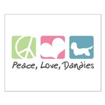 Peace, Love, Dandies Small Poster