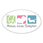 Peace, Love, Dandies Sticker (Oval 10 pk)