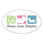 Peace, Love, Dandies Sticker (Oval 50 pk)