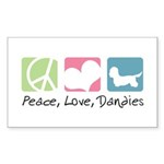 Peace, Love, Dandies Sticker (Rectangle 50 pk)