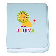 Janiya the Lion baby blanket