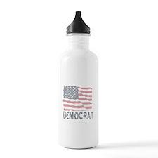 US Flag Democrat Sports Water Bottle