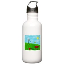 "Stick Person<br> I ""Heart Cor Water Bottle"