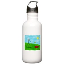 Stick Person (Cornholer) Water Bottle