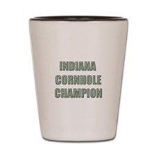Indiana Cornhole Champion Shot Glass
