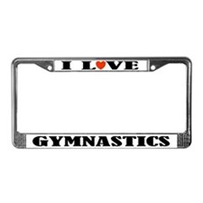 Gymnastics License Plate Frame Gift