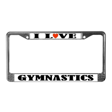 Gymnastics License Plate Frame Gift