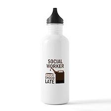 Social Worker (Funny) Gift Sports Water Bottle