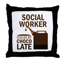 Social Worker (Funny) Gift Throw Pillow